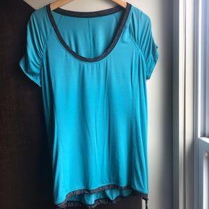 Lululemon 10 cinch top turquoise teal USED shirt